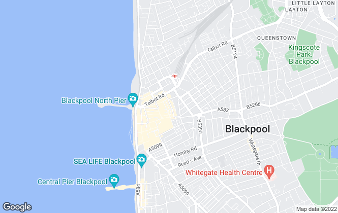 Map for Metcalf's Estate Agent, Blackpool