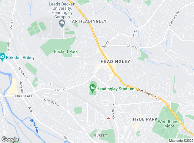 Map for Leedslets.com, Headingley