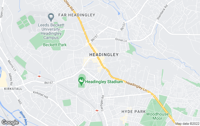 Map for Castlehill, Headingley