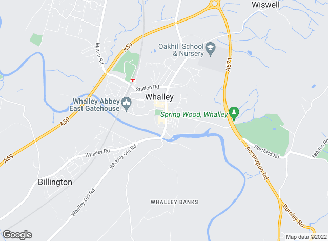 Map for Mortimers Chartered Surveyors, Whalley