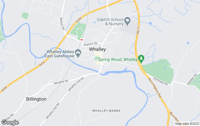 Map for Athertons, Whalley