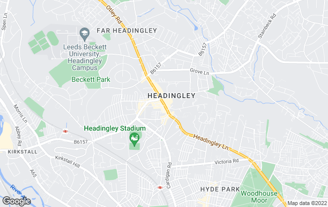 Map for Manning Stainton, Headingley