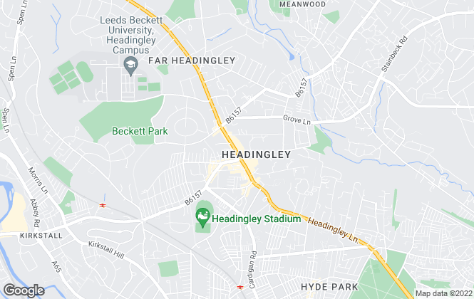 Map for William H. Brown, Headingley