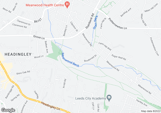 Map for Boothroyd Drive, Leeds, West Yorkshire