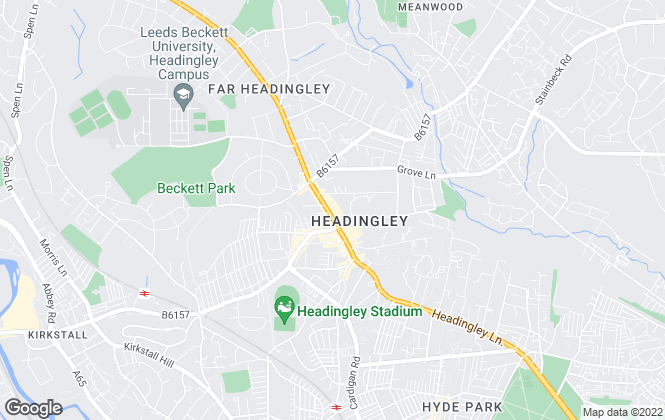 Map for William H. Brown - Lettings, Headingley  Lettings