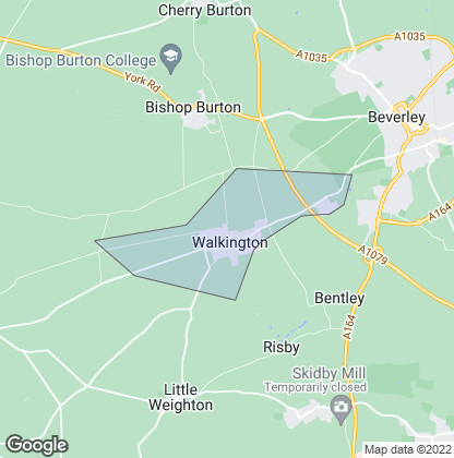 Map of property in Walkington