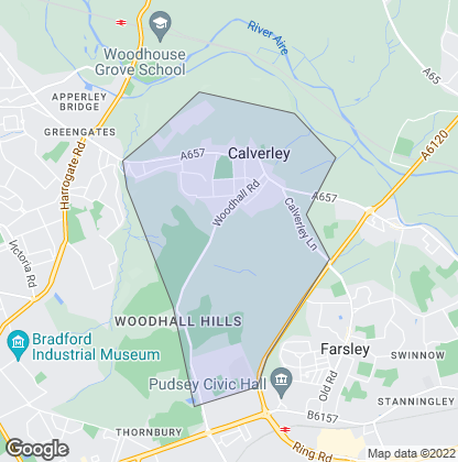 Map of property in Calverley