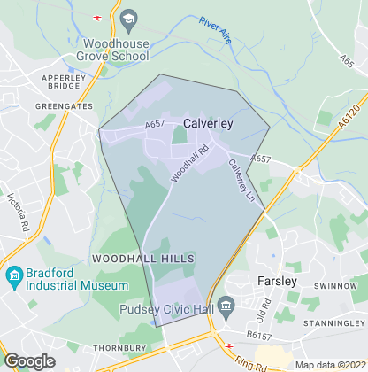 Map of property in Calverley