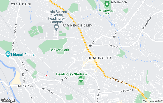 Map for Central Properties, Headingley
