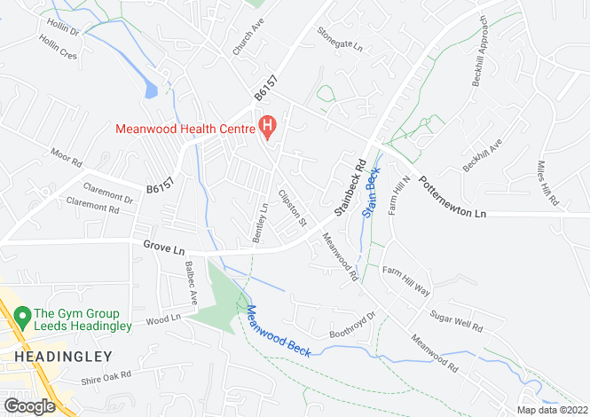 Map for 549, Meanwood Road, Leeds