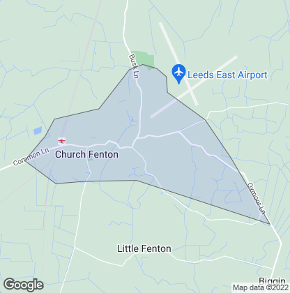 Map of property in Church Fenton