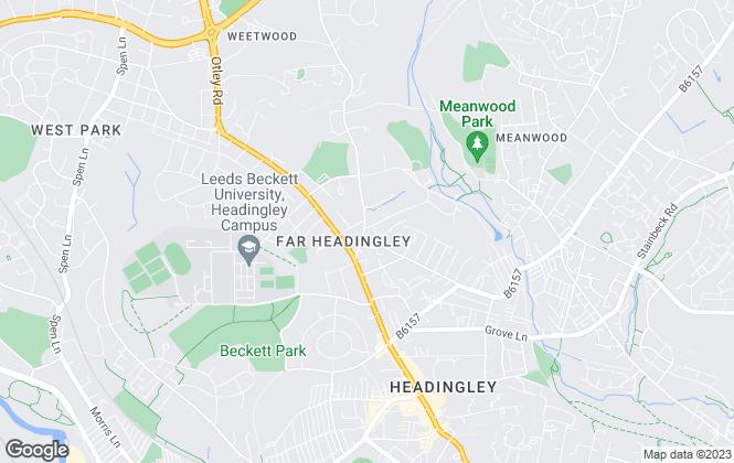 Map for Parklands Estate Agents, Leeds