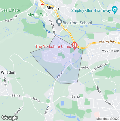 Map of property in Cottingley