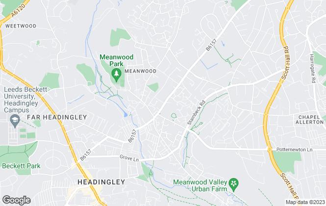 Map for Cornerstone Estate Agents, Leeds