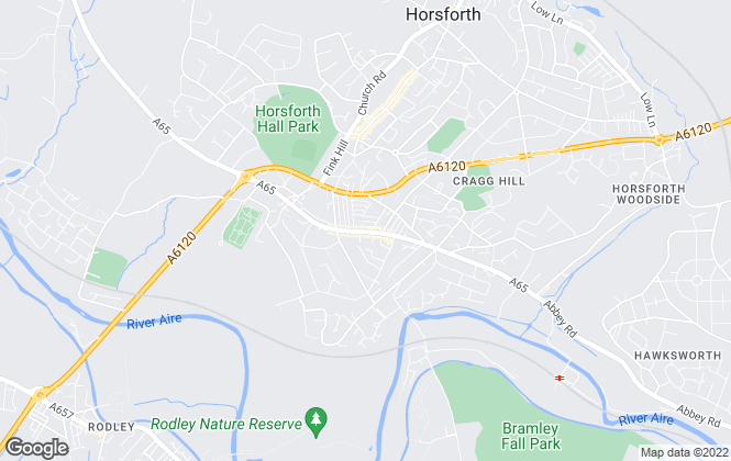 Map for Hunters, Horsforth