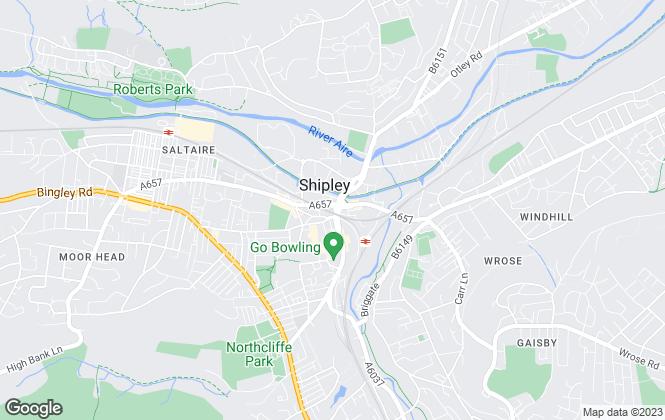 Map for Hamilton Bower, Shipley