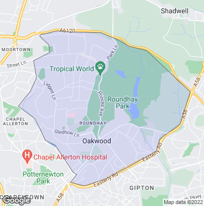 Map of property in Roundhay