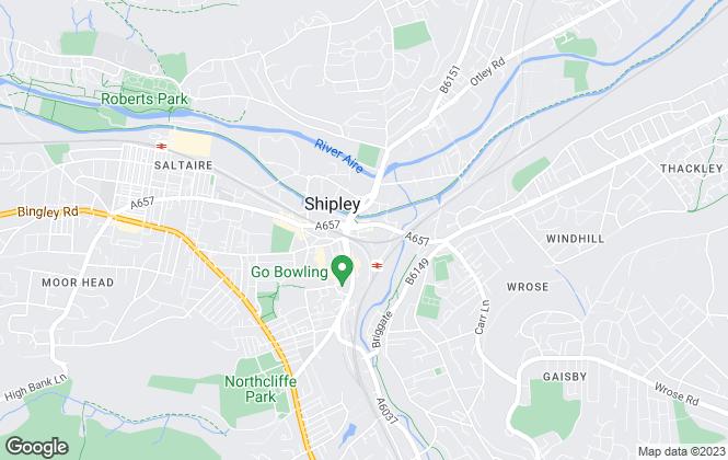 Map for Bentleys Estate Agents, Shipley