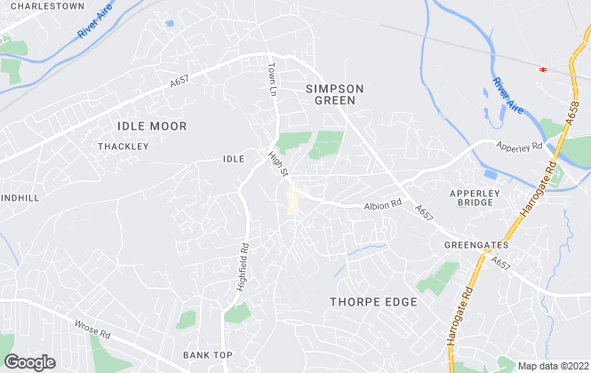 Map for Townend Estate Agents, Bradford