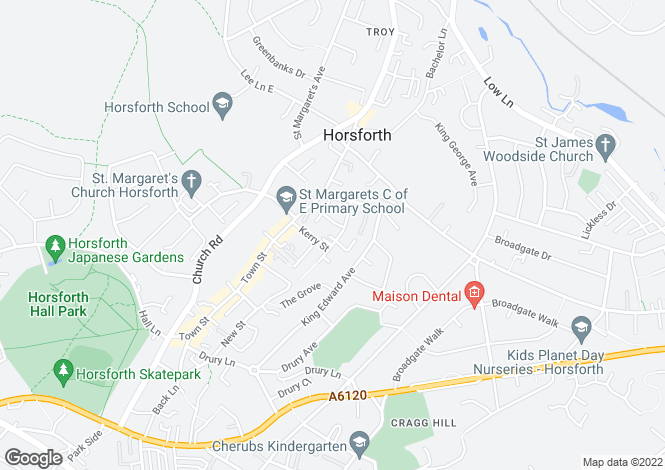 Map for PROSPECT TERRACE, HORSFORTH