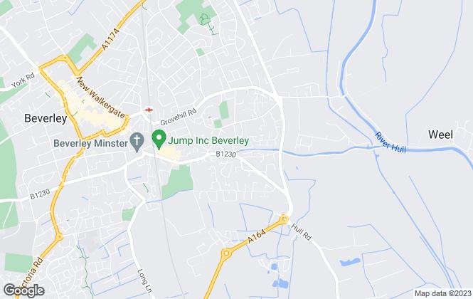 Map for EweMove, Beverley