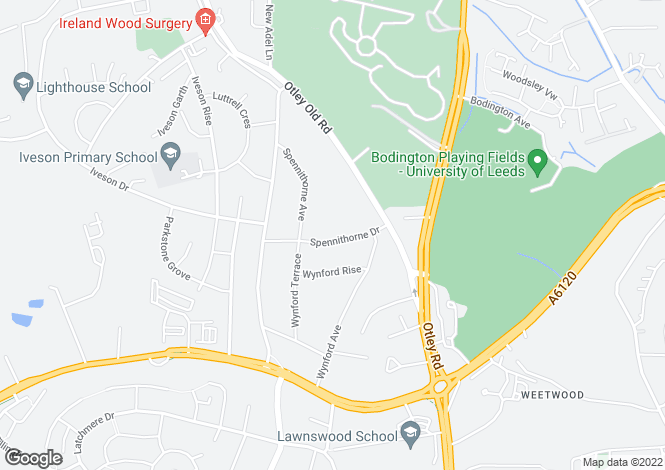 Map for SPENNITHORNE DRIVE, LEEDS, LS16 6HS
