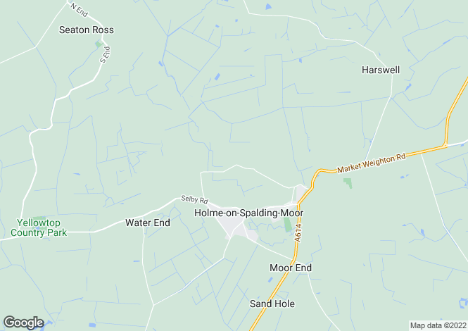 Map for Spen House, Spen Lane, Holme on Spalding Moor,YO43 4AQ