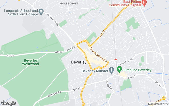 Map for Mulberry Residential, Beverley