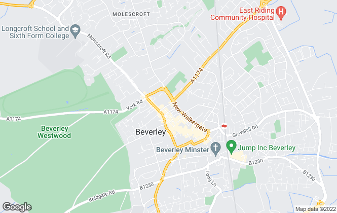 Map for Hunters, Beverley