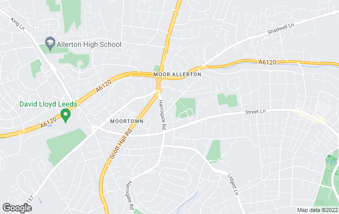 Map for Preston Baker, Moortown