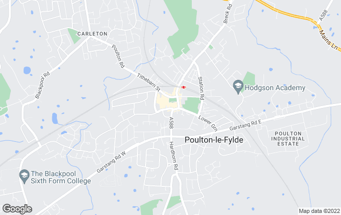 Map for Royle Estates, Management & Lettings Agents, Poulton-Le-Fylde