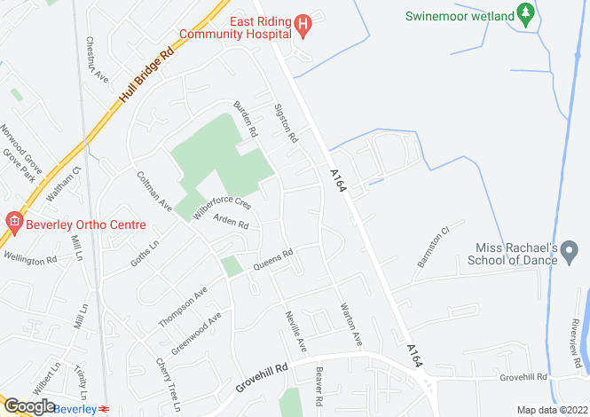Map for Crosskill Close, Beverley, East Yorkshire, HU17