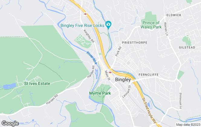 Map for Premier Property, Bingley
