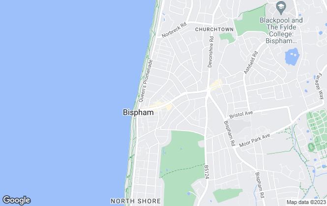 Map for McDonald & Company, Bispham
