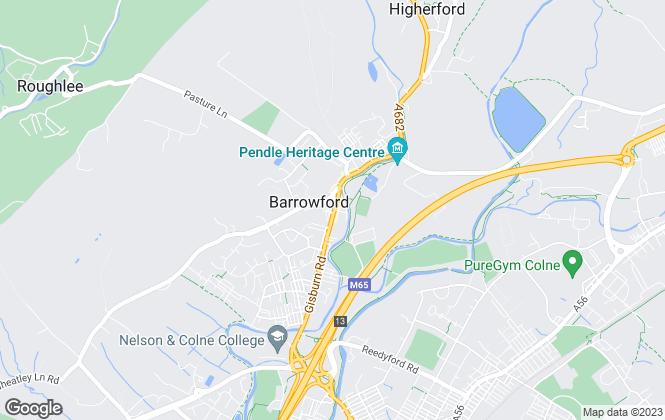 Map for Hilton & Horsfall Estate Agents, Barrowford