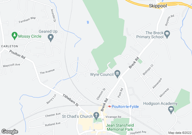 Map for Croft House, Grosvenor Close, Poulton-Le-Fylde