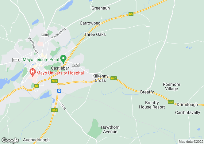 Map for 7 Kilkenny Close, Castlebar, Mayo