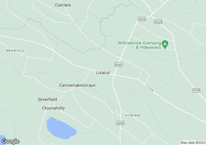 Map for Currasallagh, Lisacul, Roscommon