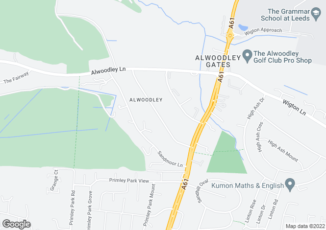 Map for Sandmoor Drive, Alwoodley, Leeds, West Yorkshire, LS17