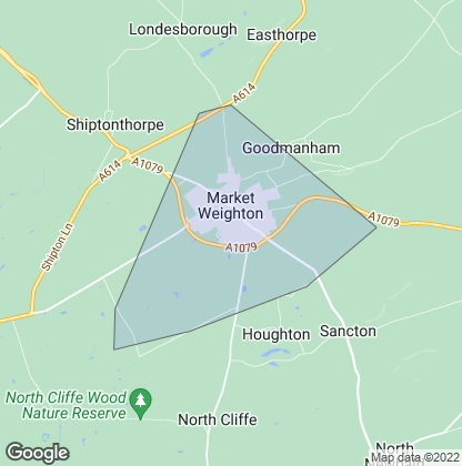 Map of property in Market Weighton