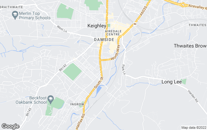 Map for Davies Lettings Ltd, Keighley