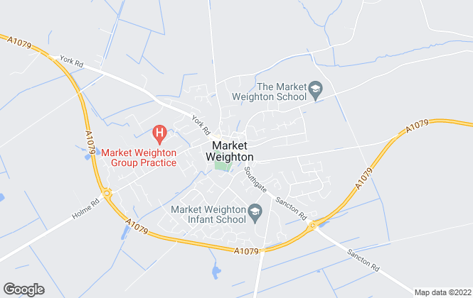 Map for R M English York Limited, Market Weighton