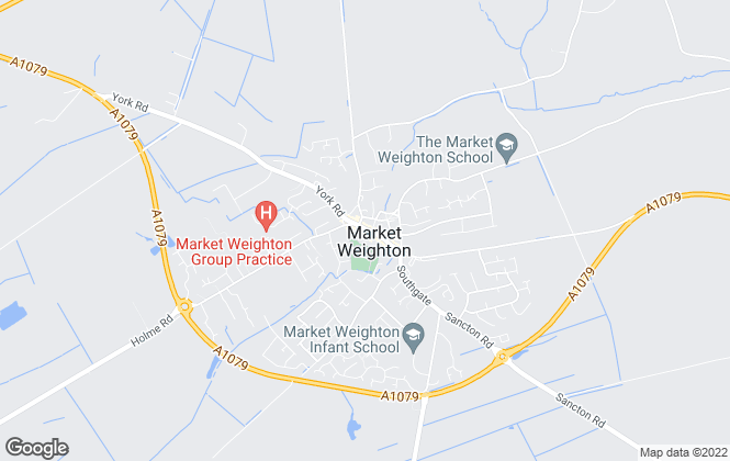 Map for Clubleys, Market Weighton