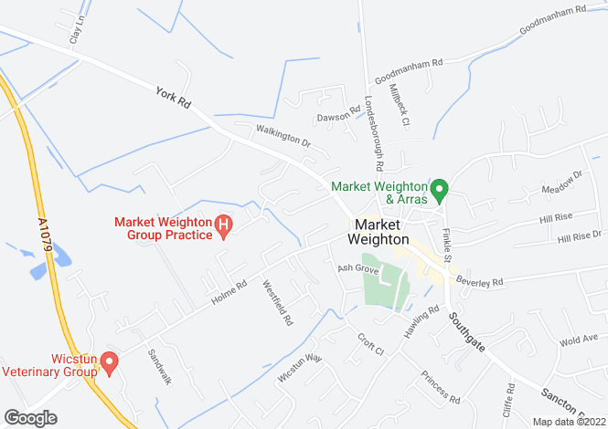 Map for Skelton Crescent, Market Weighton