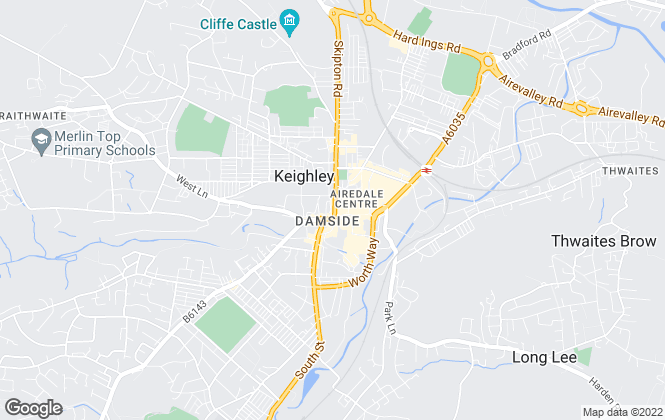 Map for Holroyds , Keighley