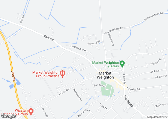 Map for Cottage, 3 Bradley Court, Market Weighton, YO43 3EE