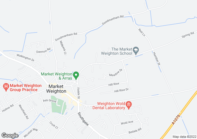 Map for Spring Road, Market Weighton