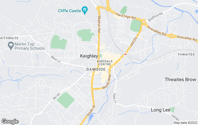 Map for Whitegates, Keighley
