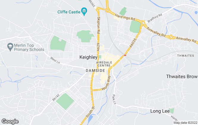 Map for Hunters, Keighley