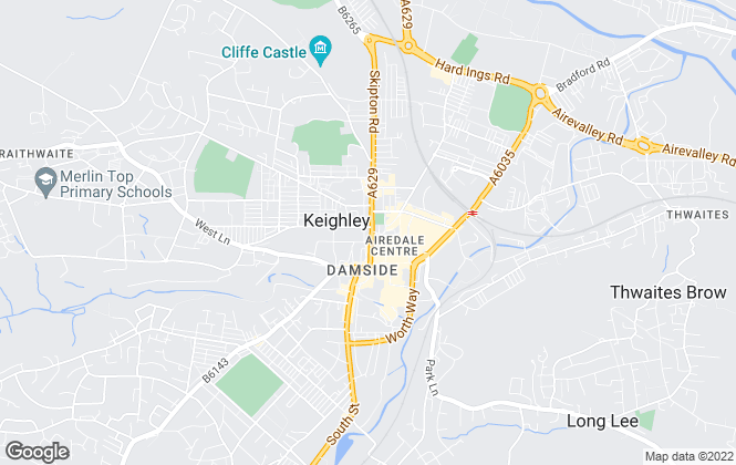 Map for Dacre Son & Hartley, Keighley